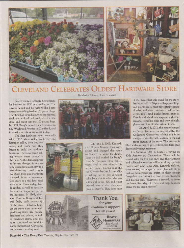 Article in Busy Bee Trader about 80th birthday